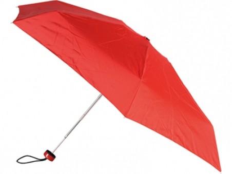 Красный складной механический зонт «Лорна» в чехле
