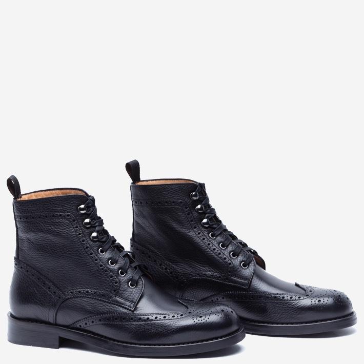 Высокие черные ботинки Gents' Stuff by Harridge