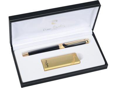 Набор: ручка шариковая, зажигалка Pierre Cardin (золото)