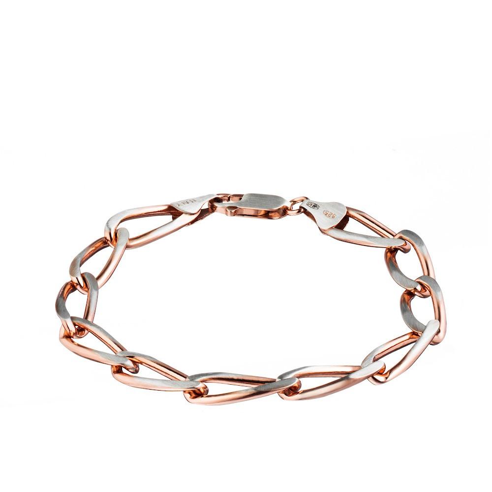 Позолоченный мужской браслет из серебра