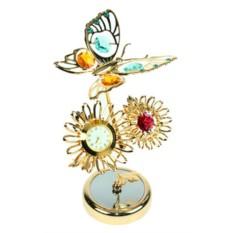 Декоративная фигурка с часами Бабочка на подсолнухе