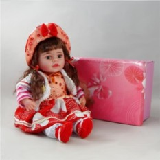 Декоративная виниловая кукла с хвостиками