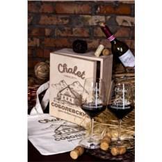 Набор бокалов с именной гравировкой Chalet