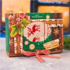 Шарф в подарочной упаковке Олени