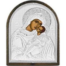Маленькая серебряная икона Сладкое лобзание