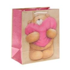 Подарочный пакет Мишка с сердцем