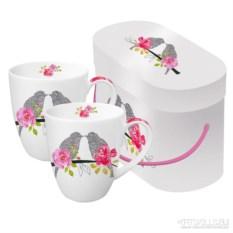 Набор кружек в подарочной коробке Love birds 350 мл