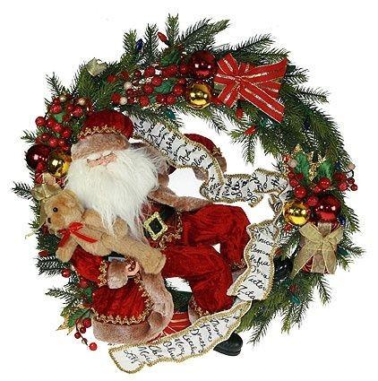 Новогоднее украшение Рождественский венок с подсветкой