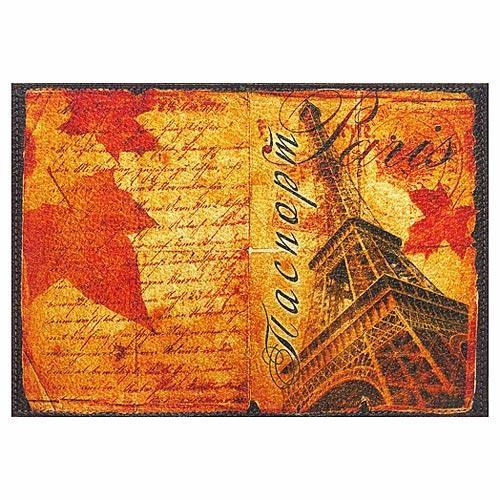 Обложка кожаная на паспорт Париж