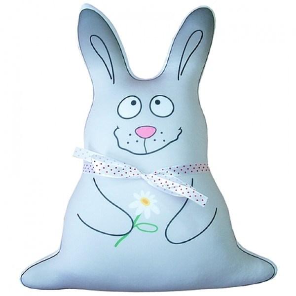 Голубая подушка антистресс Зайка Лакки