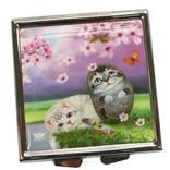 Зеркальце «Цветы вишни» с чехлом