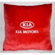 Красная подушка Kia motors