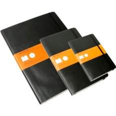 Черна записная книжка в линейку Moleskine Classic Soft