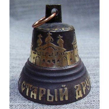 Бронзовый колокольчик валдайский №5