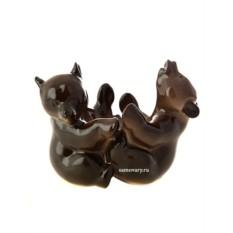 Фарфоровая скульптура Мишки-подставка