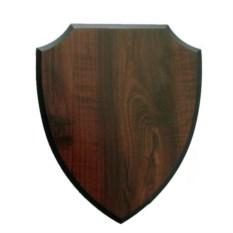 Темно-коричневая плакетка в форме щита
