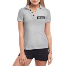 Женская футболка polo Хэштег Кирилл