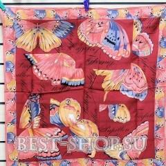 Платок женский шелковый крепдешиновый