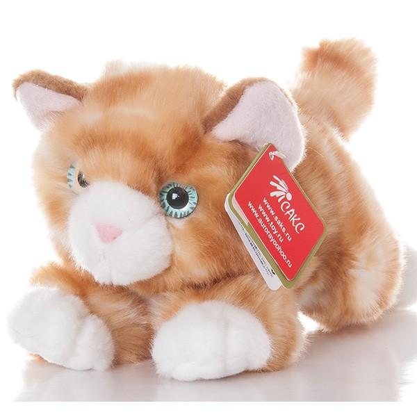 Мягкая игрушка Рыжий котик (Aurora)
