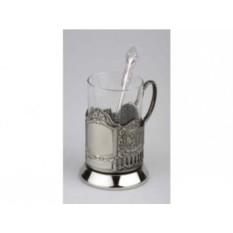 Набор из стакана с подстаканником и ложкой