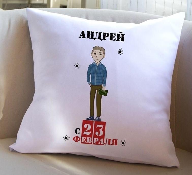 Декоративная подушка с вашим именем Мой герой