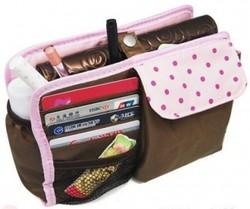 Органайзер для женской сумки Mini, шоколад в горошек