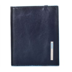 Темно-синий футляр для кредитных карт Piquadro Blue Square