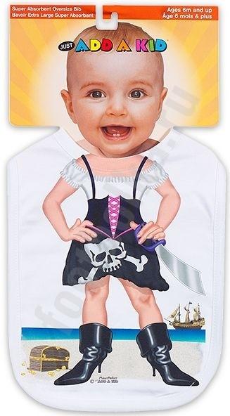 Слюнявчик Малышка-пират