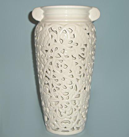Керамическая ваза Кружевная амфора