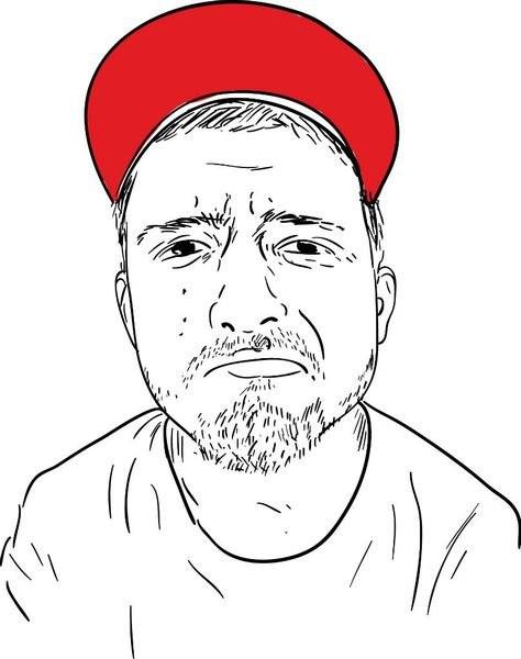 Мужской контурный портрет