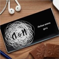 Шоколадная открытка  Белый клубок