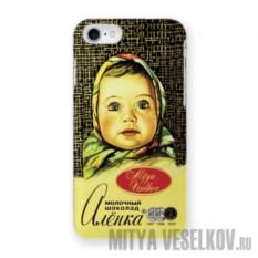 Чехол для iPhone 7 Шоколадка Алёнка