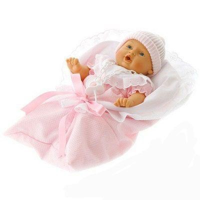Кукла-младенец Мило в розовом