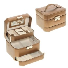Бежевая шкатулка-автомат в подарочной упаковке