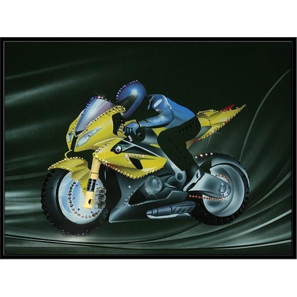 Картина Swarovski Мотоциклист