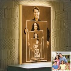 Семейный Фотоколлаж на 3D-светильнике