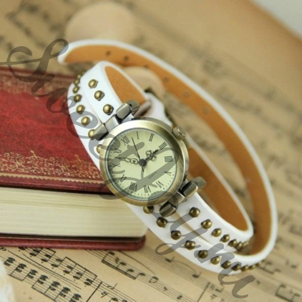 Часы Dotted Rivet - White