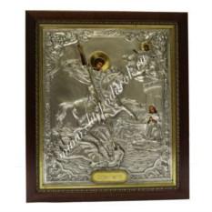 Икона Георгий Победоносец (размер: 32х37х3,5 см)