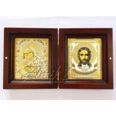 Складень «Благодатный» с образами Христа и Божьей матери