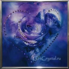 Картина с кристаллами Swarovski Сердечко №1