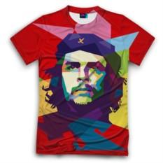 Мужская футболка 3D с полной запечаткой Че Гевара