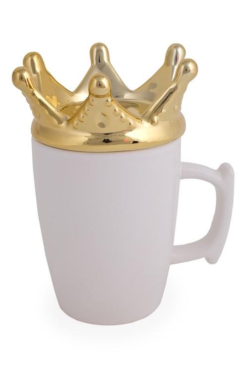 Кружка с крышкой Корона