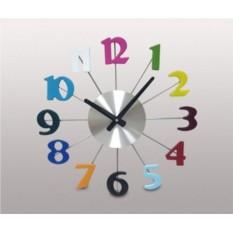 Настенные часы Разноцветный циферблат