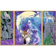 Триптих по номерам Ravensburger Мистическая дружба