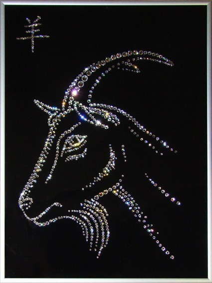 Картина Swarovski Символ года Коза