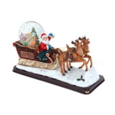 Декоративная композиция Санта и снежный шар