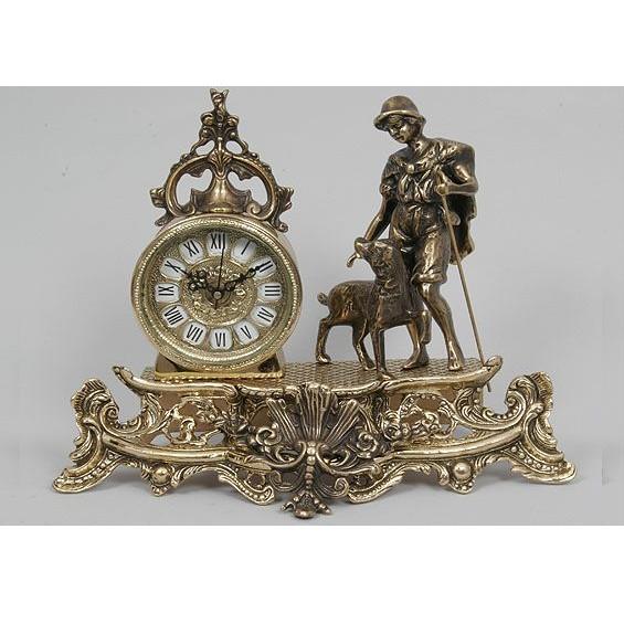 Часы бронзовые интерьерные