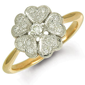 Кольцо с бриллиантами «Элегия»