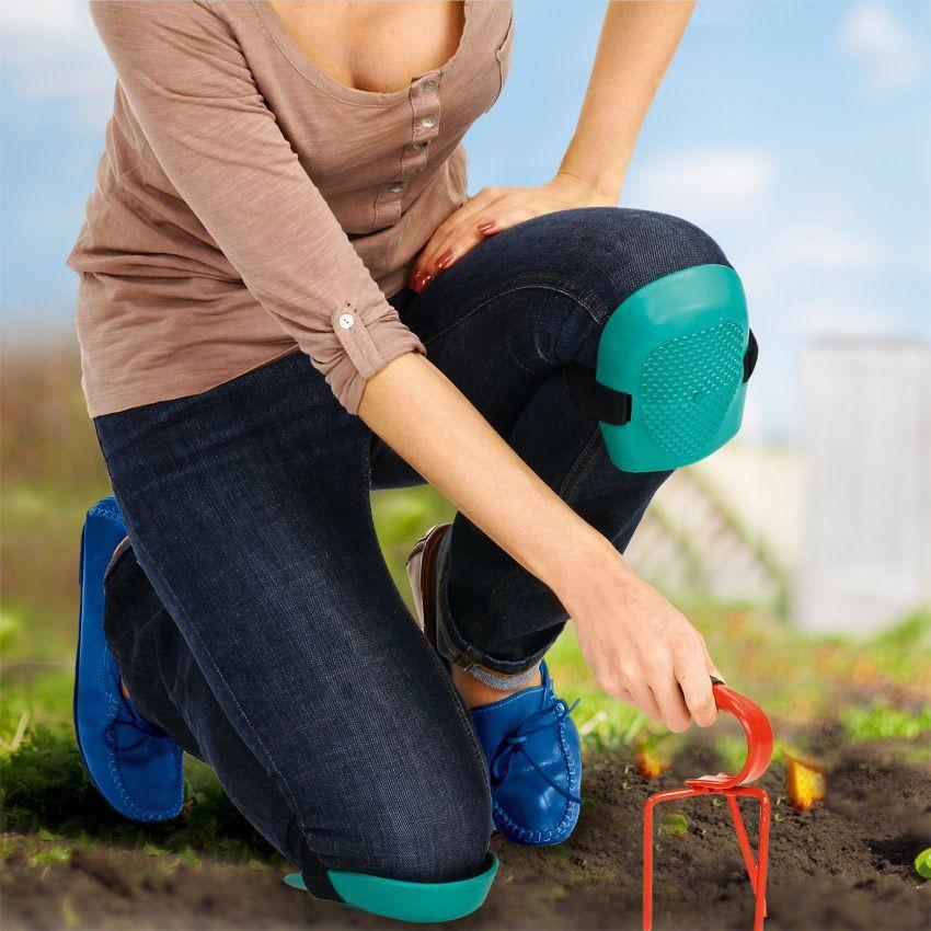 Набор резиновых наколенников для сада