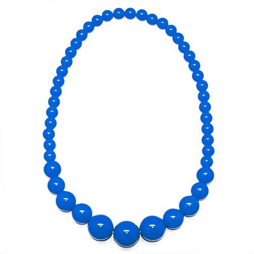 Женские бусы (синие)